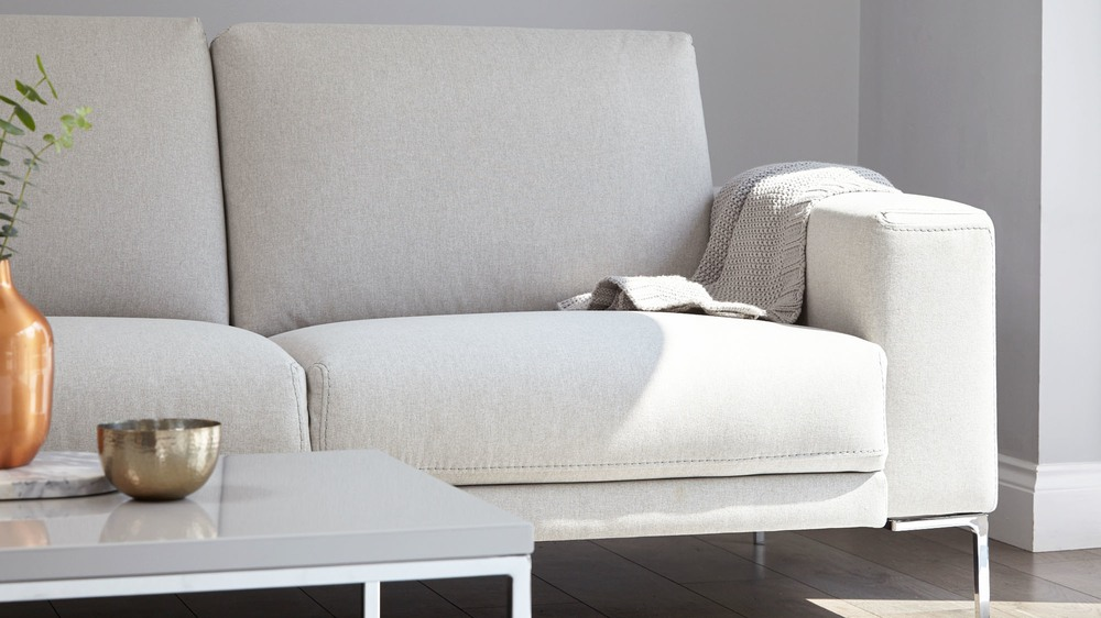 Comfortable stylish fabric sofa