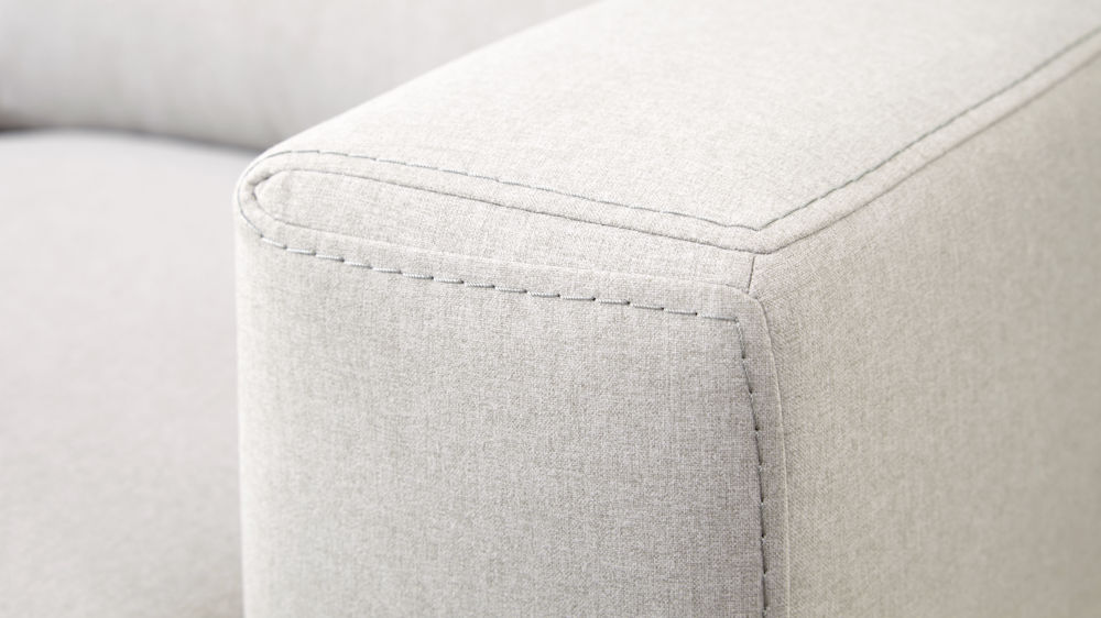 Stitched fabric sofa
