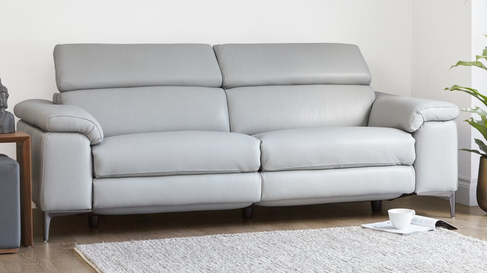 3 Seater Real Leather Recliner Sofa