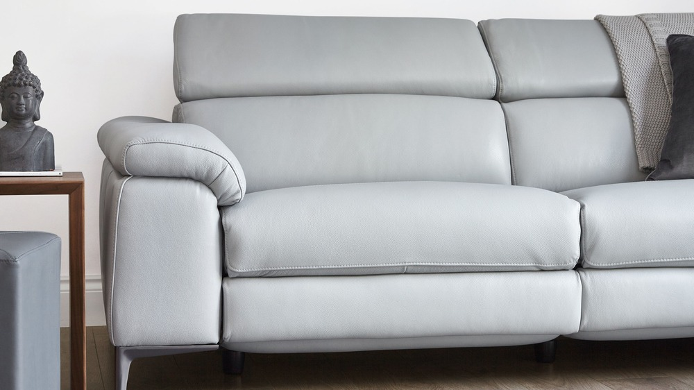Textured leather sofa