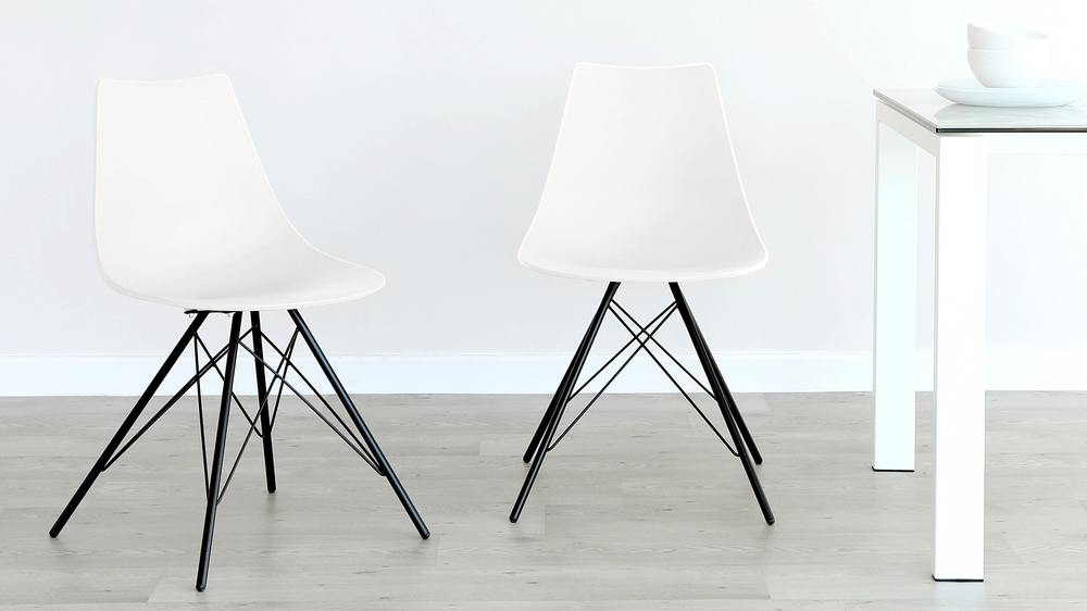 Modern Sturdy White Dining Chair