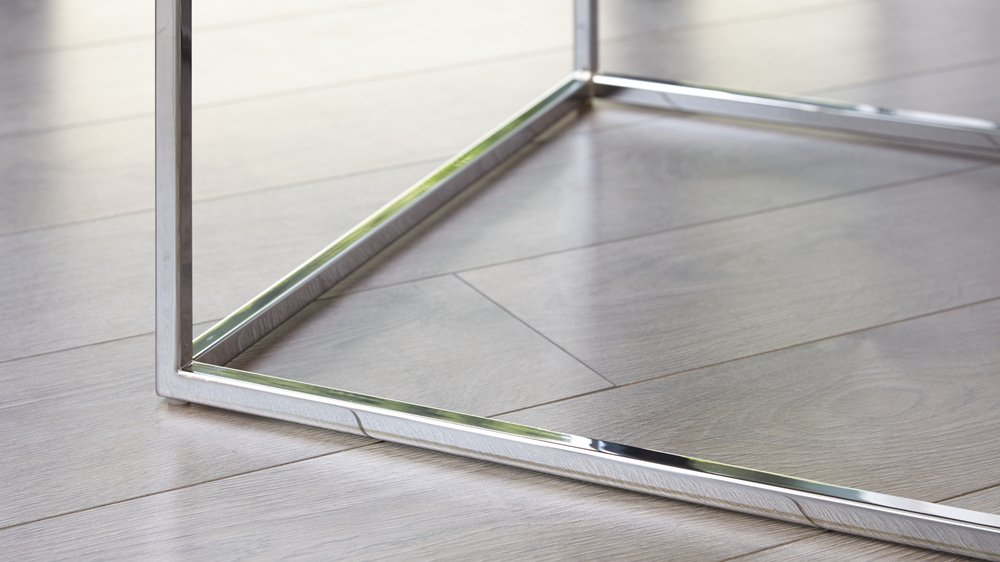 Buy chrome and gloss coffee table