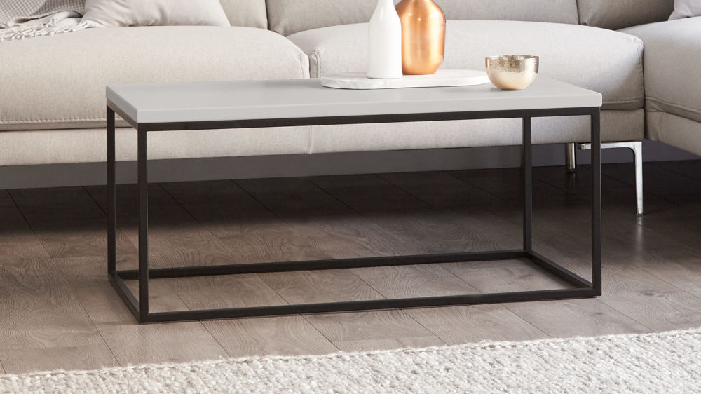 Matt grey and matt grey large coffee table