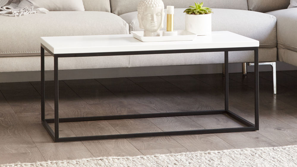Delightful Large Black Coffee Table Part - 8: Large Matt White Coffee Table
