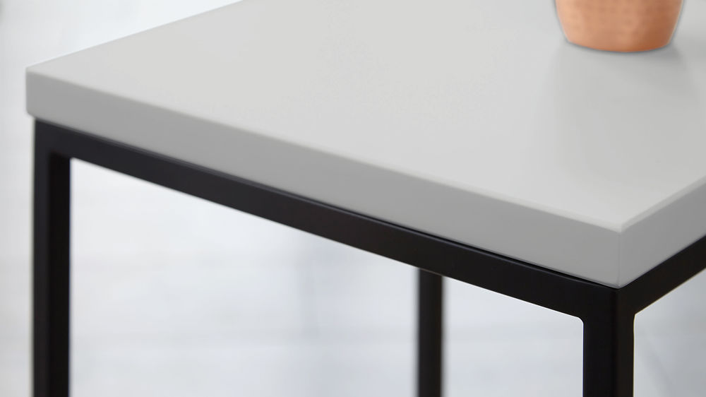 Black Side Table modern grey and metal side table | living room table | uk