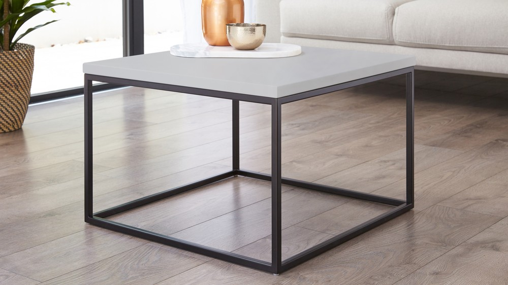 Acute matt grey and matt black coffee table
