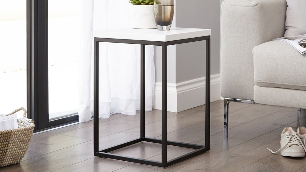 Small Side Table Black And White