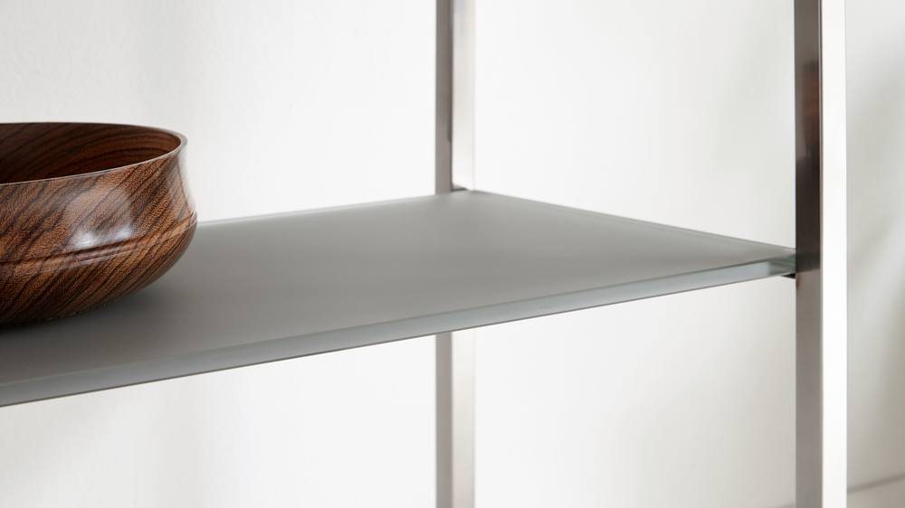 Chrome legged console table