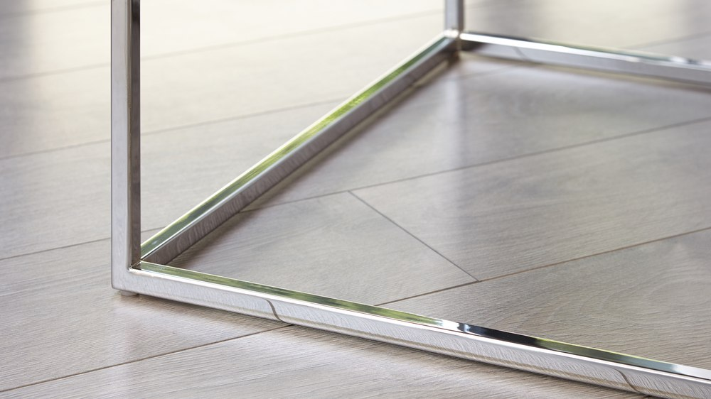 Chrome and gloss coffee table