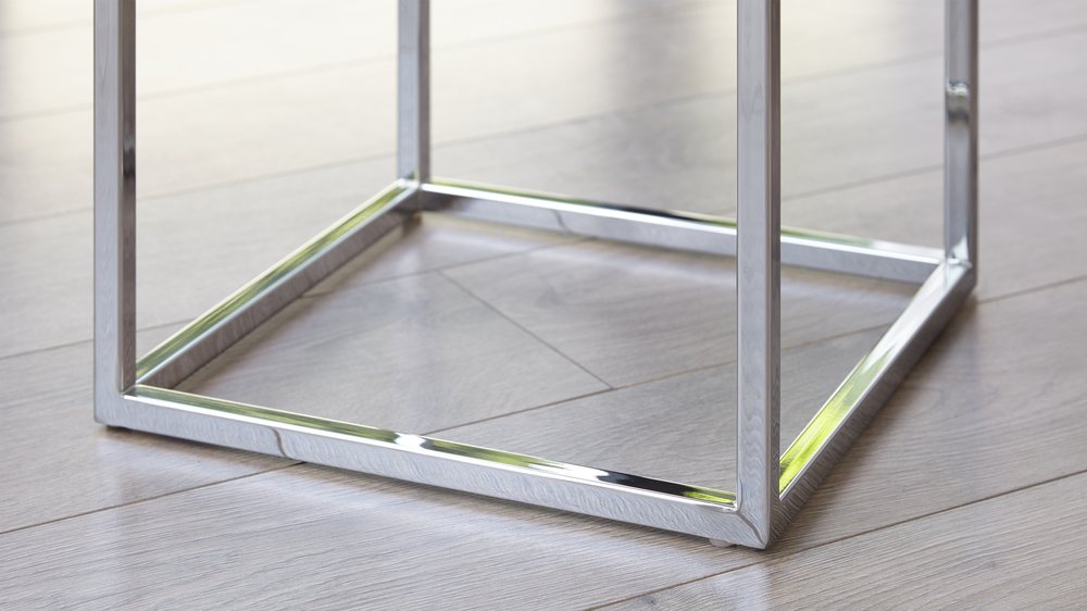 Chrome side table
