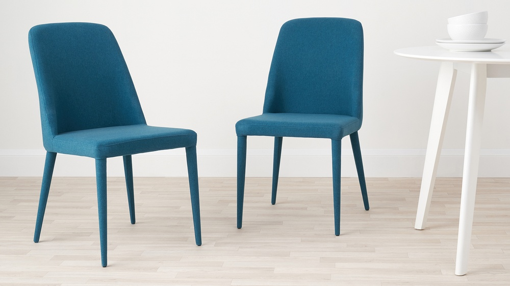 Colourful material chairs