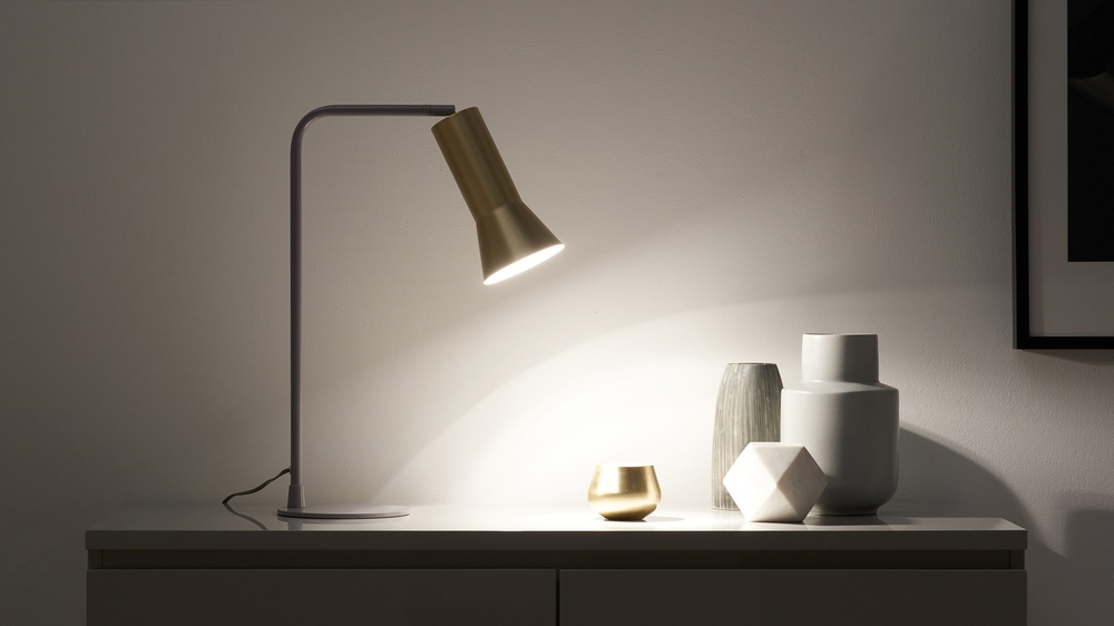 Brass modern table lamps