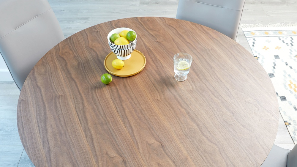 Walnut veneer table