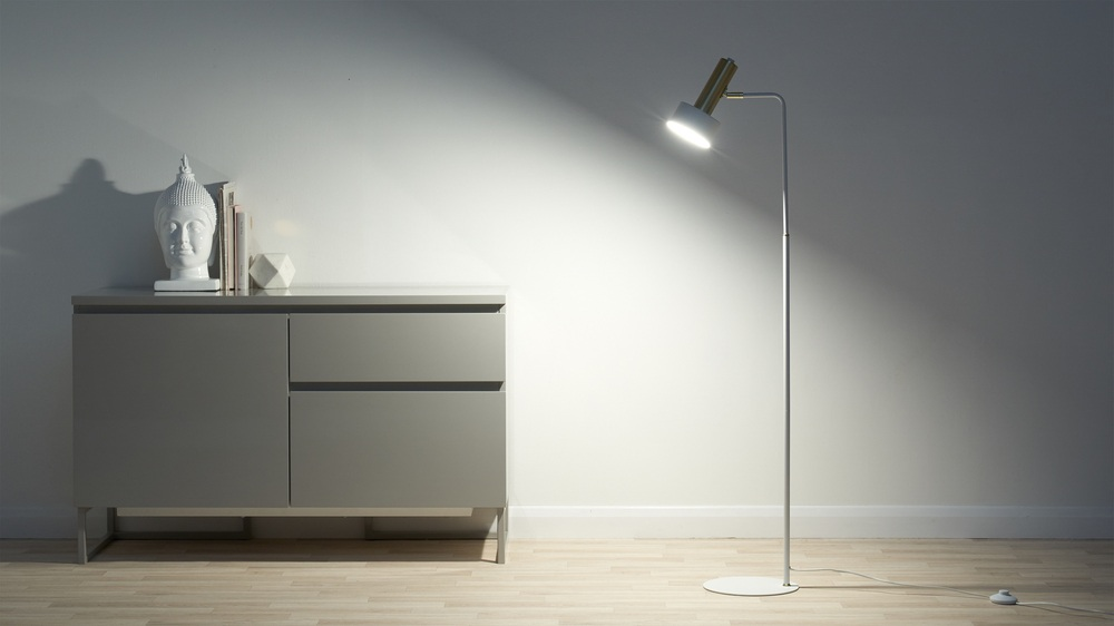 Buy white modern floor lamps