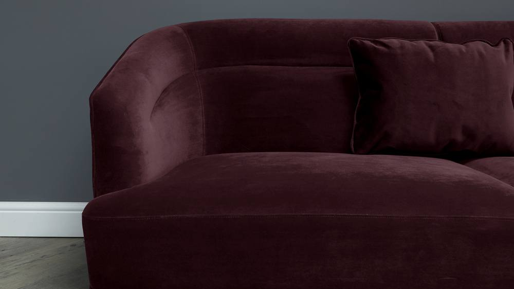 Amber purple velvet sofa