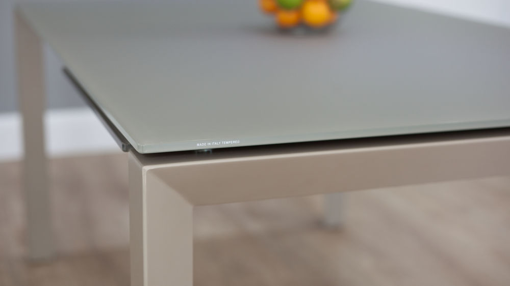 Coloured Glass Extending Dining Table