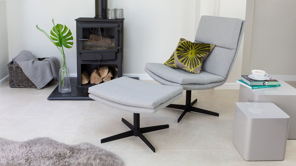 Contemporary Occasional Chair and Foot Stool