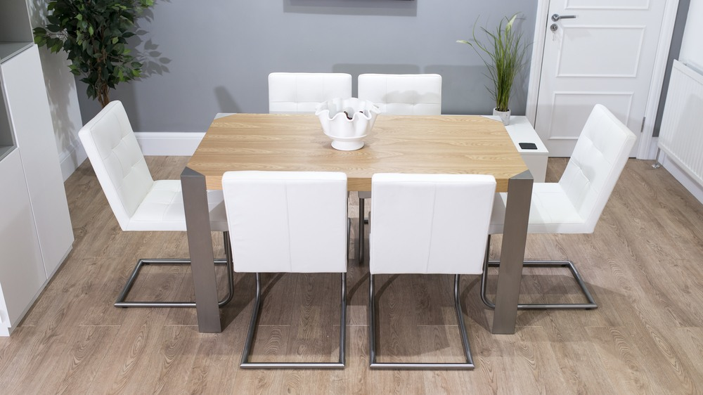Oak and Cantilever Dining Set