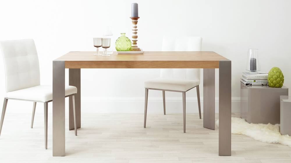 Contemporary Oak Wood Dining Table