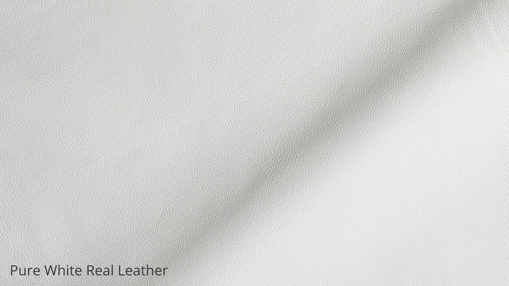 White Real Leather