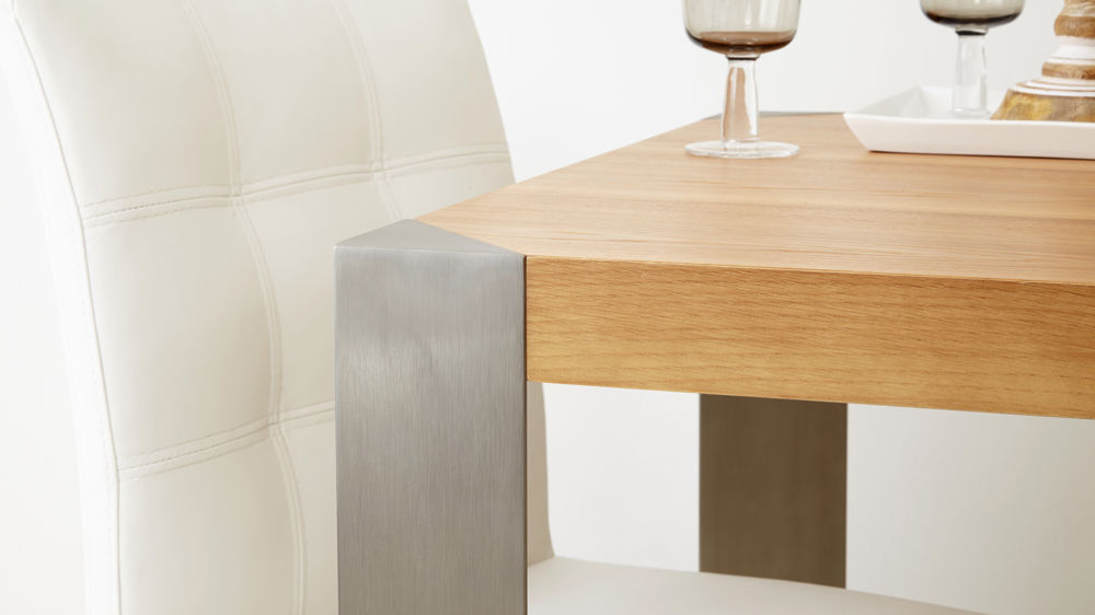 Stylish Wood Finish Dining Table