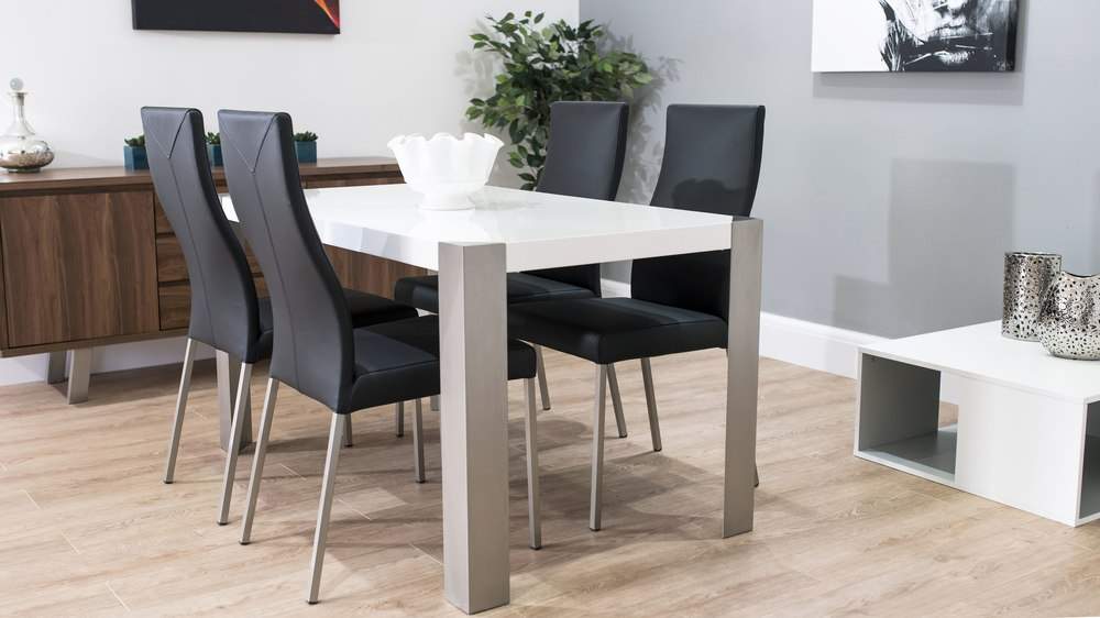 Monochrome 4-6 Seater Dining Set
