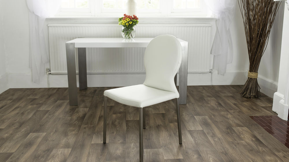 Contemporary Round White Dining Chair