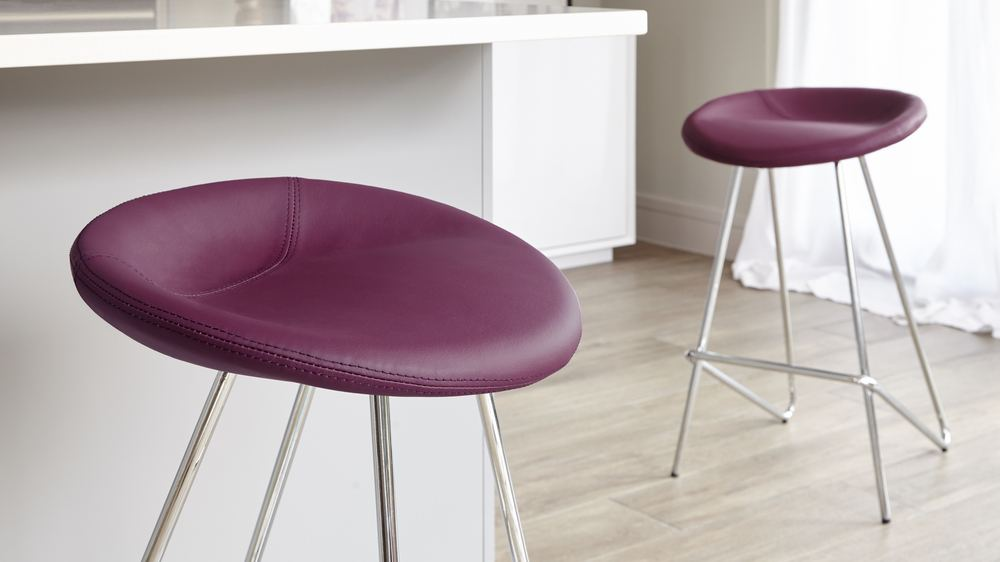 Dark Purple Bar Stools