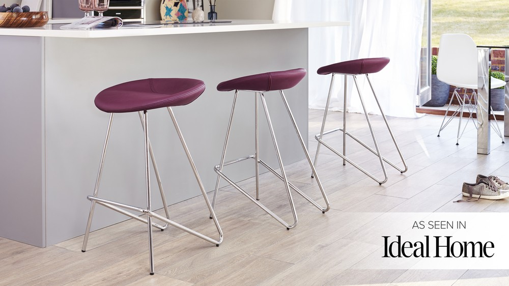 Modern Purple Bar Stools