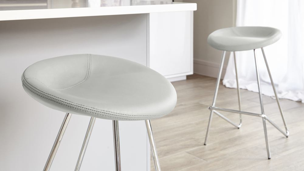 Comfortable Bar Stools with Chrome Legs