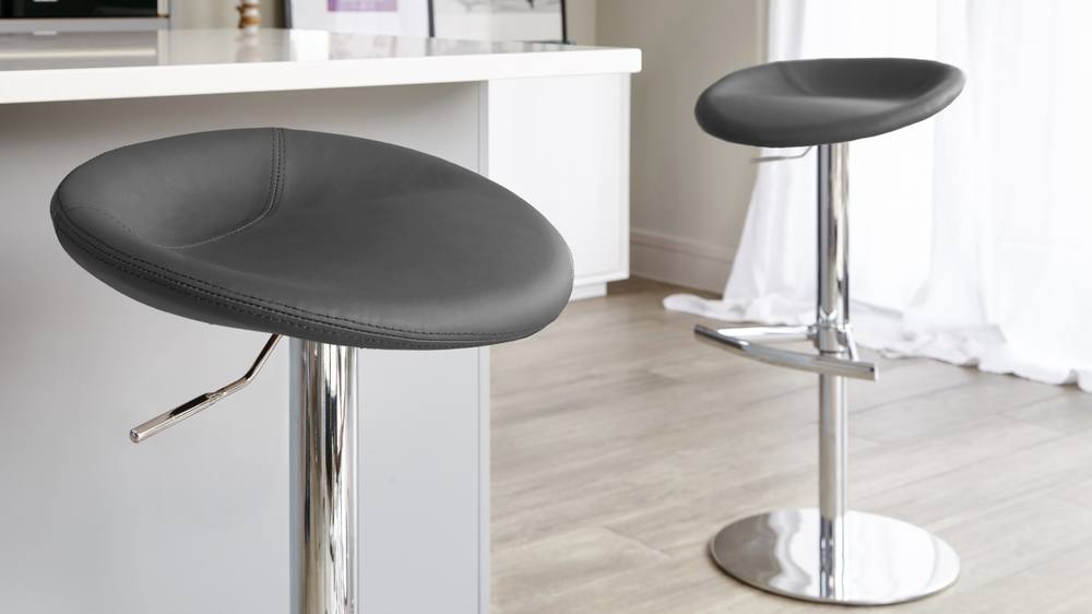 Dark Grey Gas Lift Modern Breakfast Stools