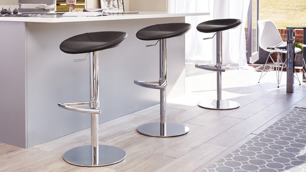 Modern Round Bar Stool Purple Chrome Pedestal Amp Base