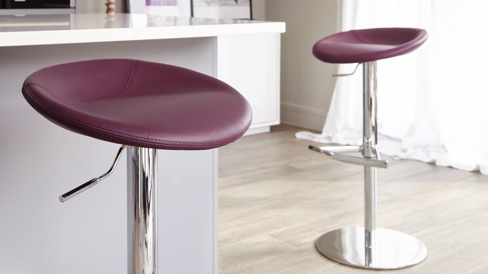 High Quality Faux Leather Bar Stools
