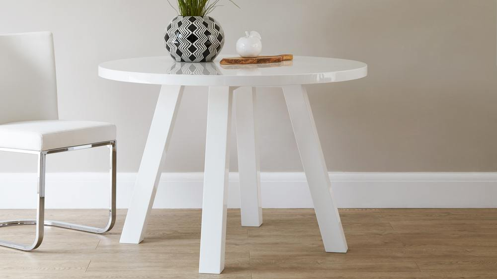 round white gloss dining table Exclusively Danetti with Julia Kendell range