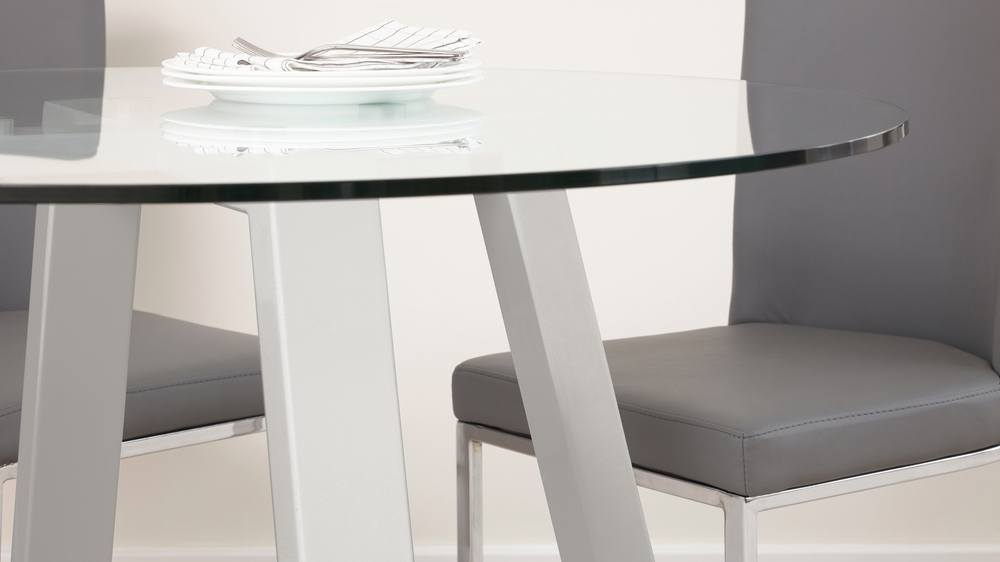 Small glass 4 seater dining table