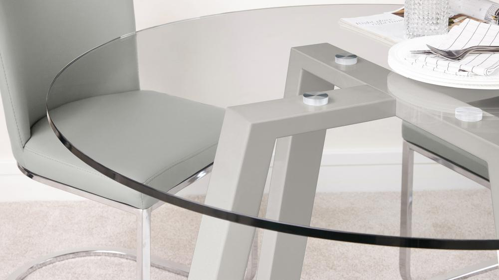 Modern glass dining set