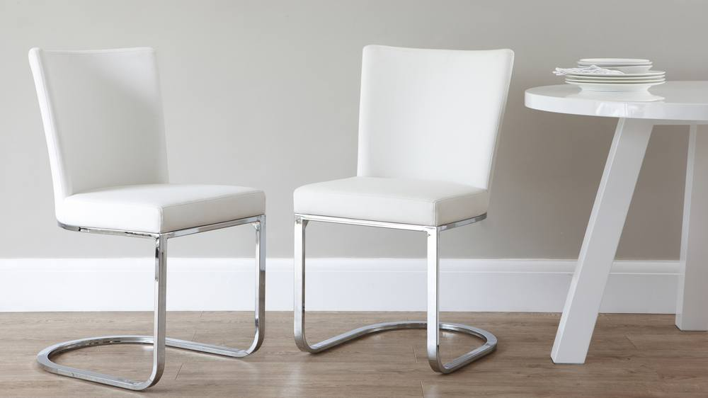 Stylish White Swing Dining Chairs