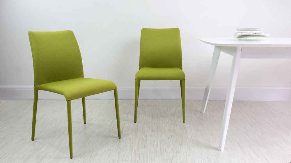 Lime green stackable dining chair