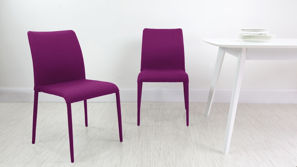 Pink stackable dining chair