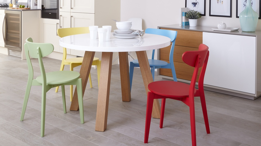 Astonishing Arc Oak And White Gloss And Senn Colourful Dining Set Download Free Architecture Designs Embacsunscenecom