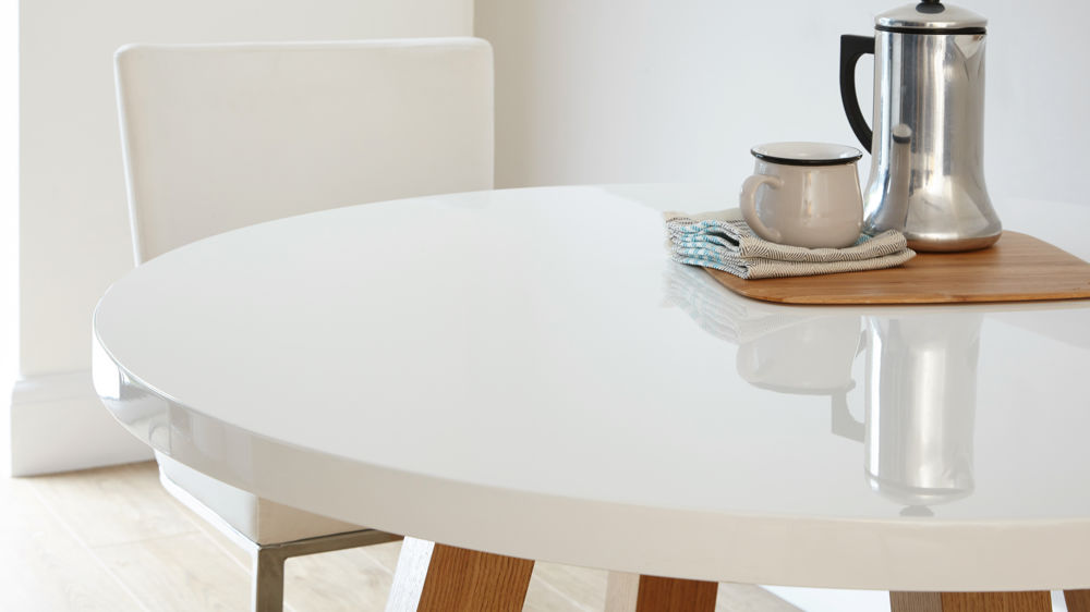 High Gloss Round Dining Table