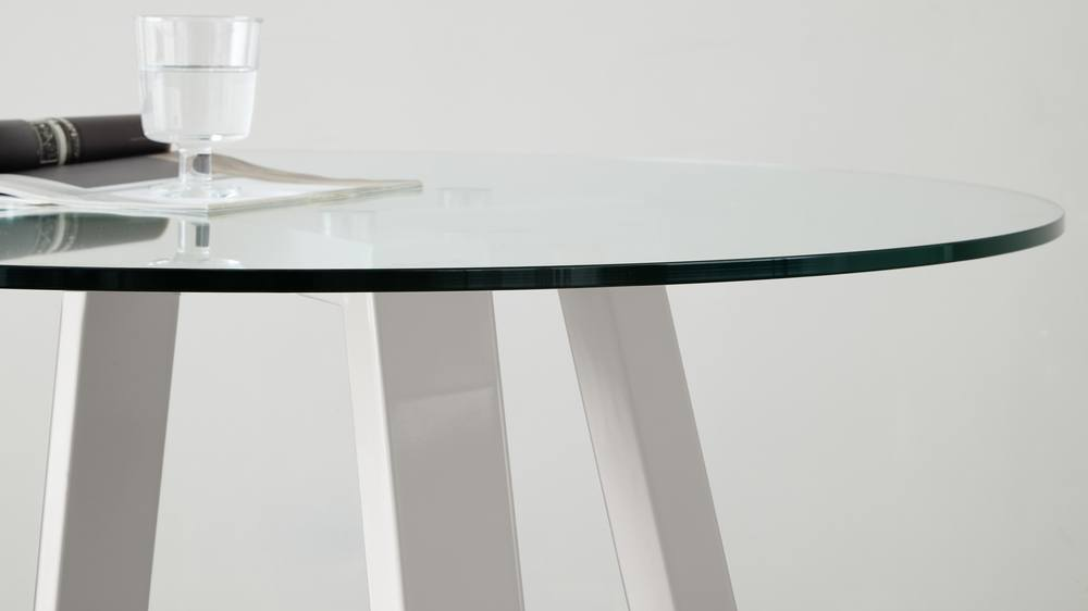 Simplistic Glass and Gloss Table