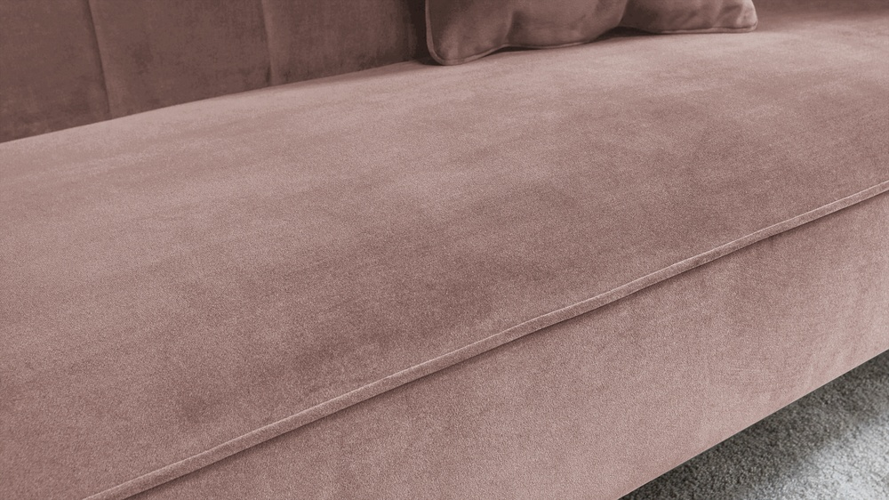 piped velvet sofa