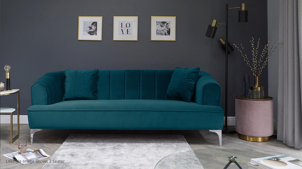 Archie Jewel Green 2 Seater Sofa