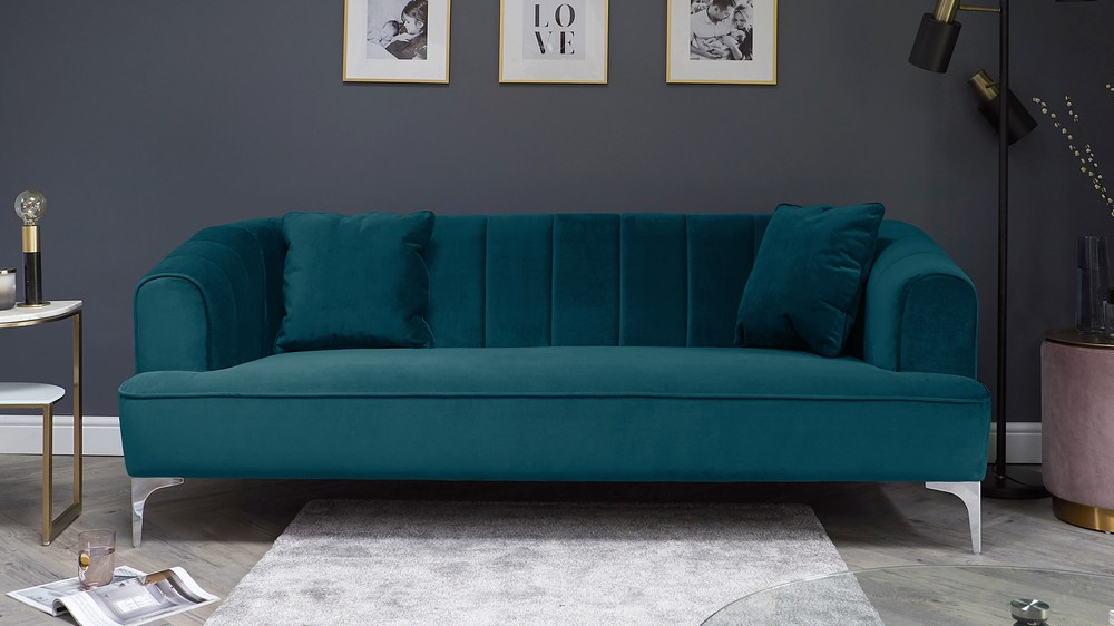 Archie Jewel Green 3 Seater Sofa