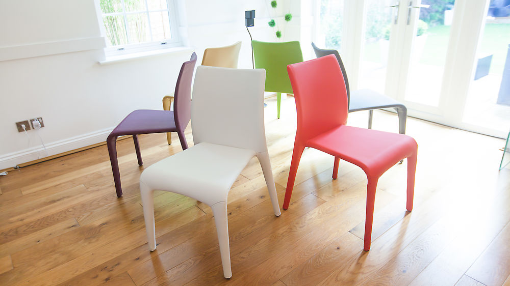 Multi Coloured Faux Leather Dining Chair