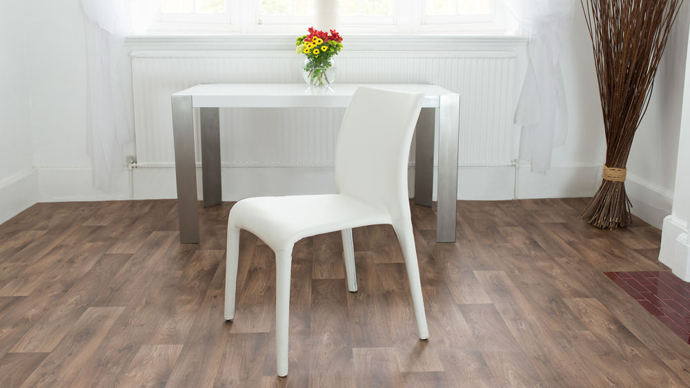 Simple White Dining Chair