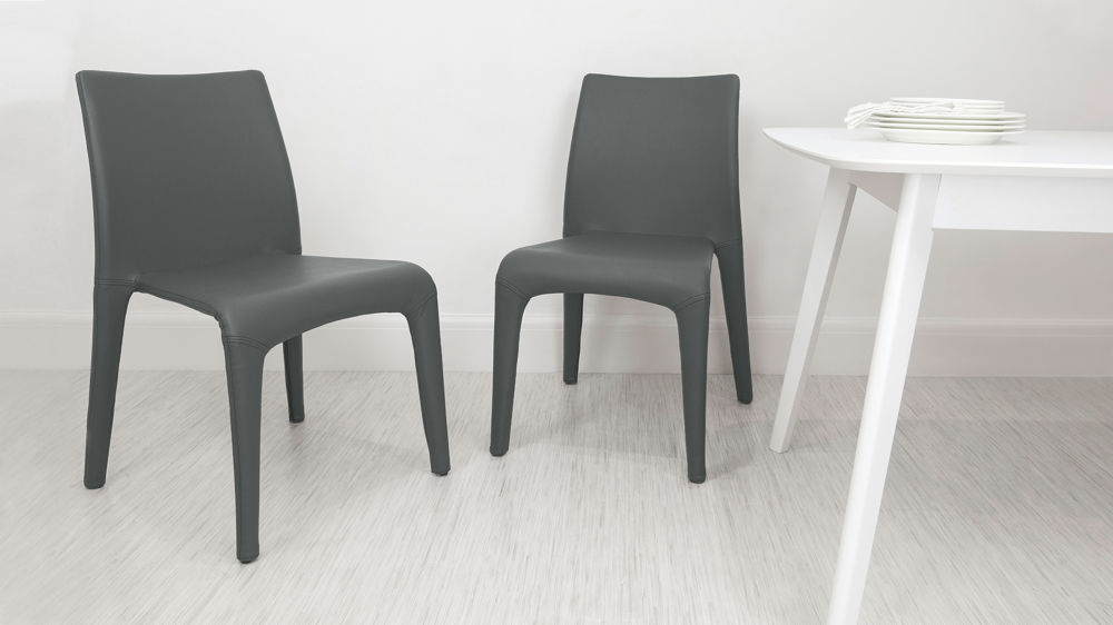 Leather Dining Chairs Modern. Dark Grey Faux Leather Dining Chairs.  Contemporary Chairs Modern R