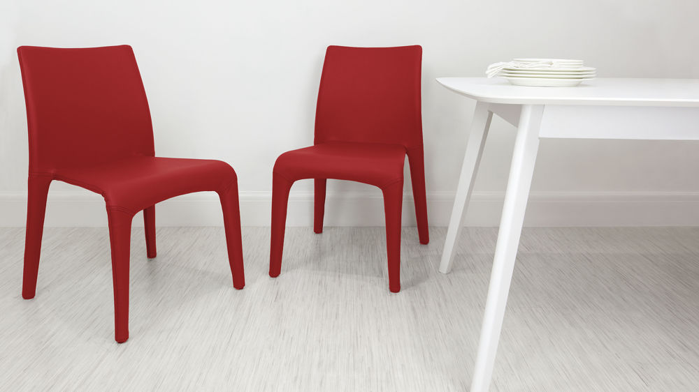 Stackable Red Dining Chair