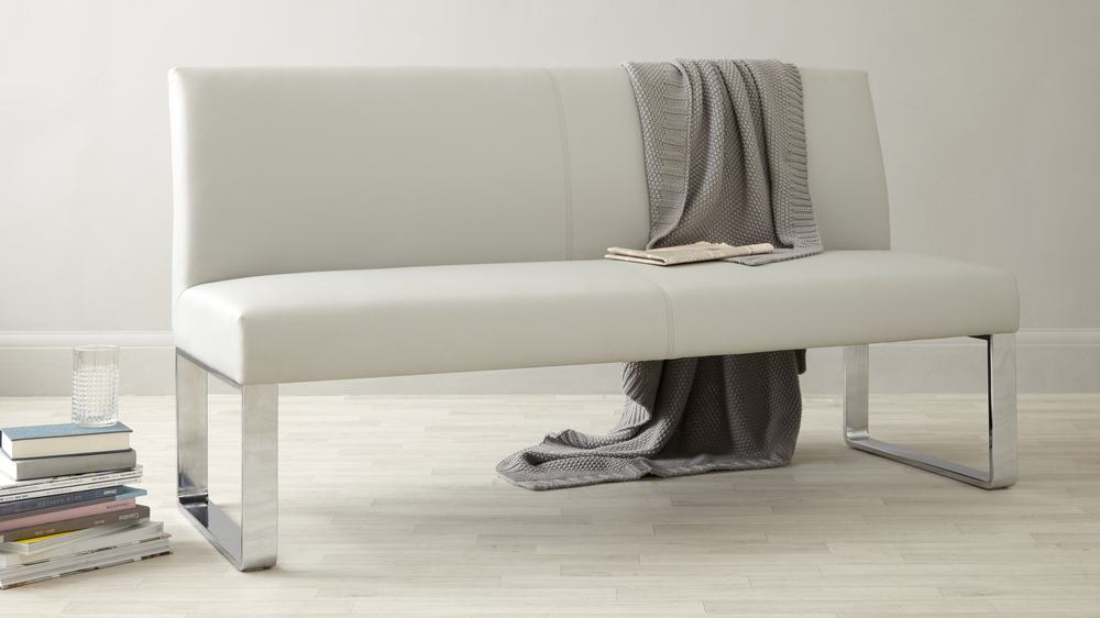 Stylish Leather Bench